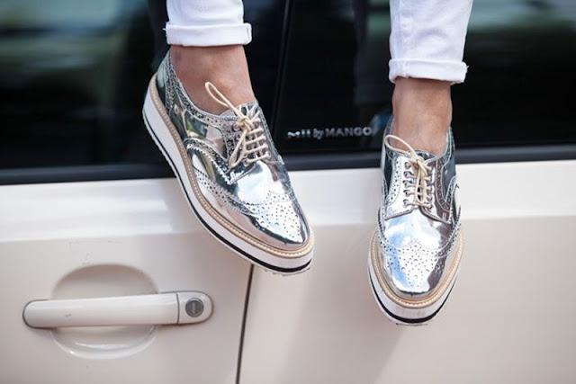 Resultado de imagem para sapato metalizado