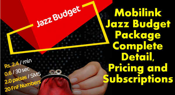 Jazz Budget Prepaid Package