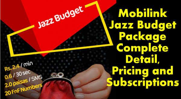 Jazz Budget Prepaid Package
