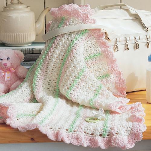 Crochet Stroller Blanket - Free Pattern