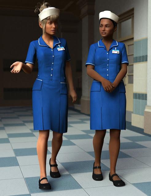 Uniform Dress for Genesis 3 Female