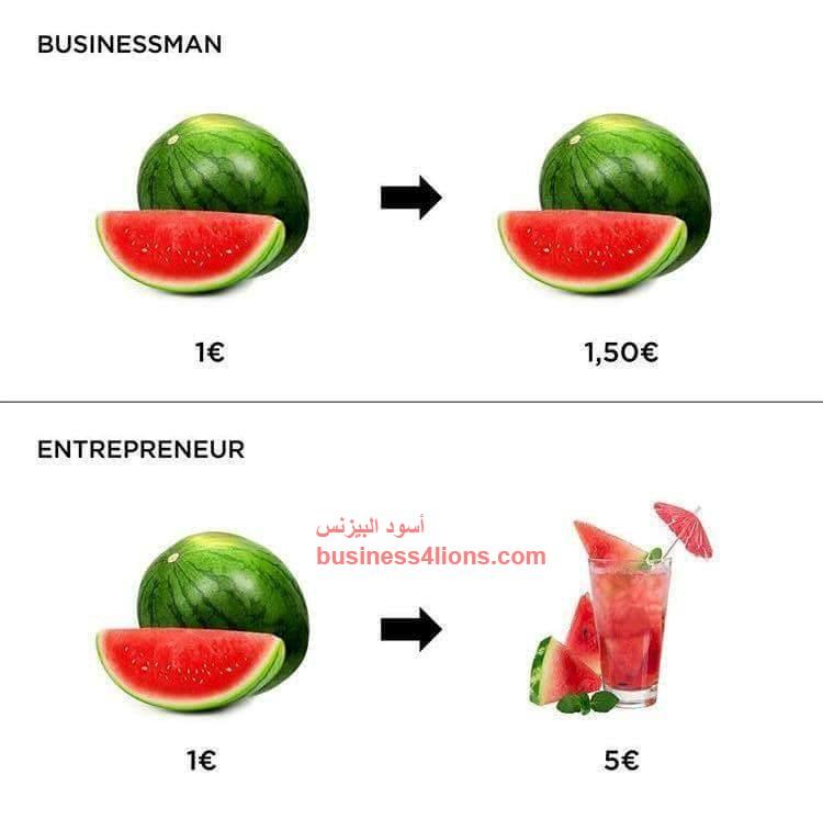 الفرق بين رائد الأعمال و رجل الأعمال