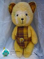 Медведь Мягкая игрушка СССР жёлтый костюм в клеточку медвежонок. Медведь плюшевый СССР советский мягкая игрушка СССР жёлтый костюм в клеточку медвежонок.