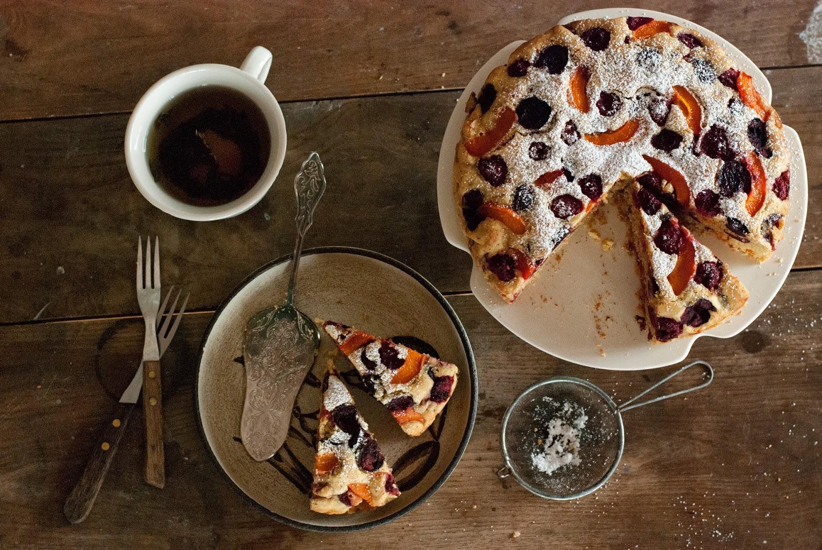 Owocowe ciasto ucierane bez glutenu