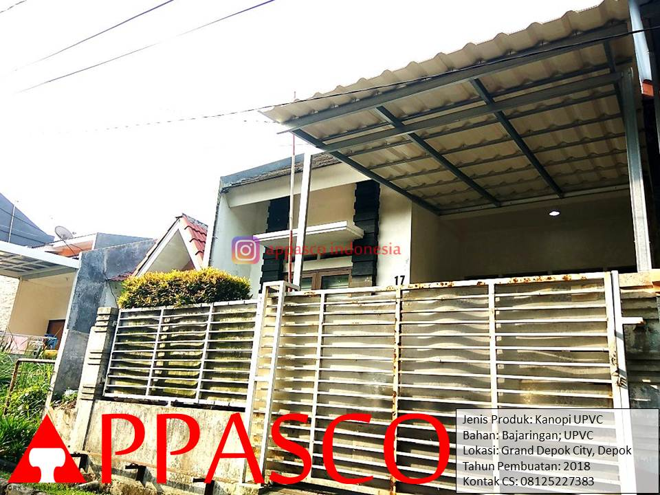 Kanopi Simple Atap UPVC di GDC Depok Grand Depok City