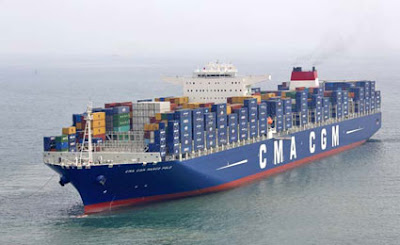 The Container-ship CMA CGM Marco Polo Offers Accommodations for up to 10 passengers