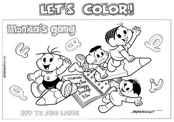 Desenhos Turma Da Monica Volta As Aulas Para Colorir Atividades
