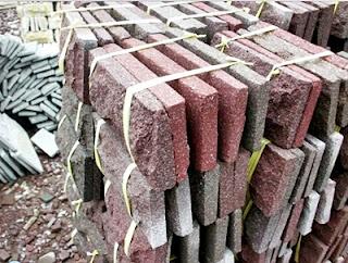 Gambar Batu Alam Candi Merah untuk Templek Dinding Rumah