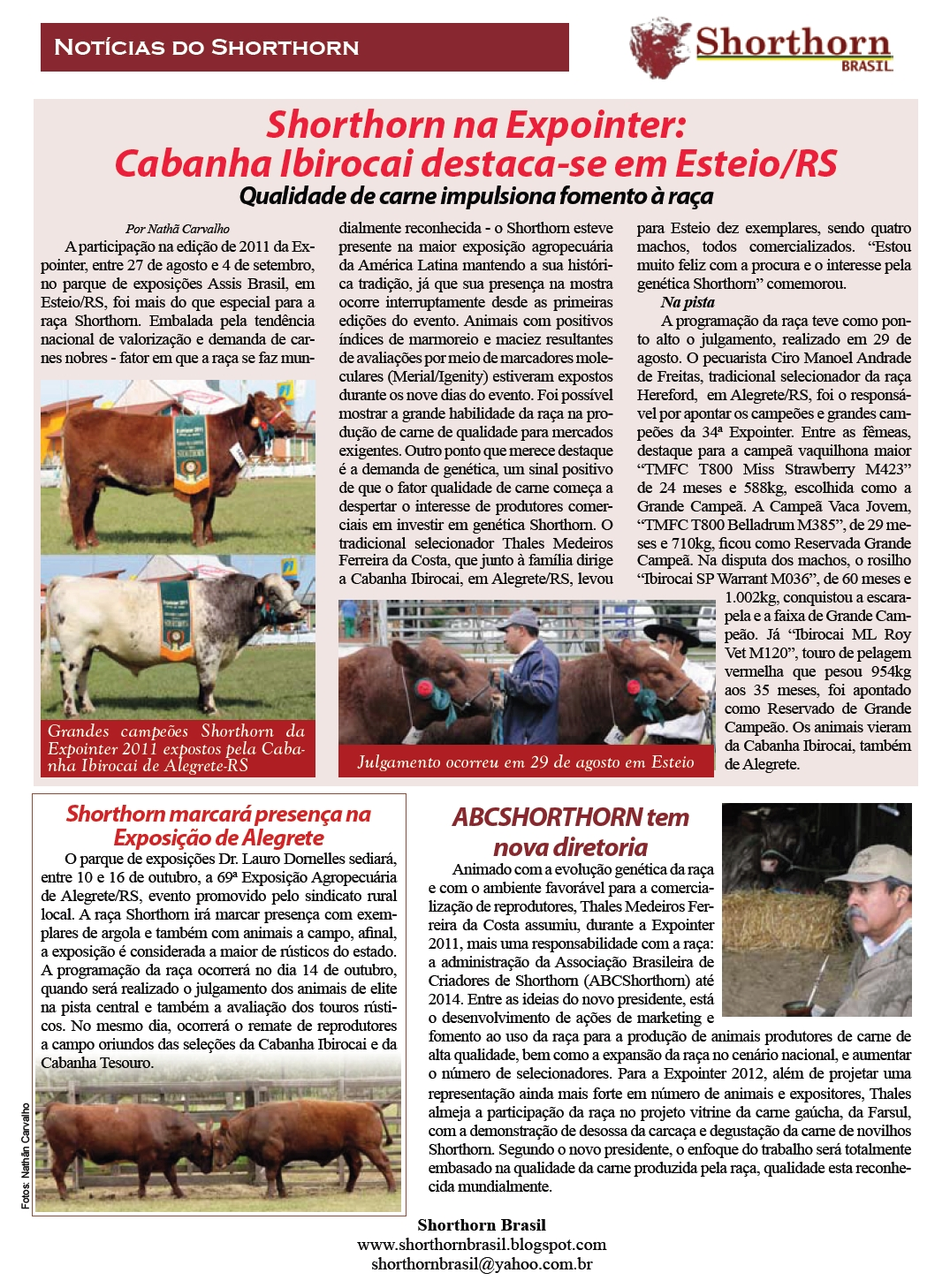 Clique e leia a página Notícias do Shorthorn na edição de outubro da revista  AG Criador  a9ba349aaee