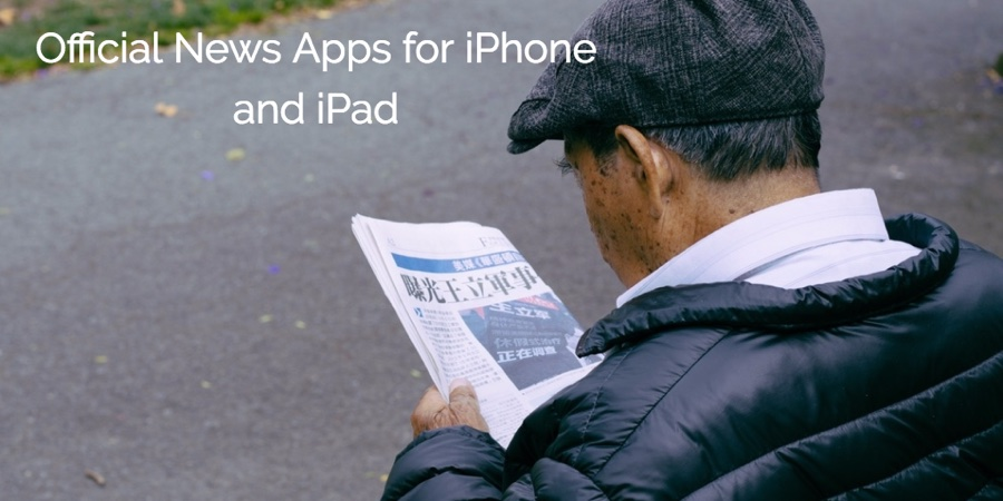 Official news apps for iPhone