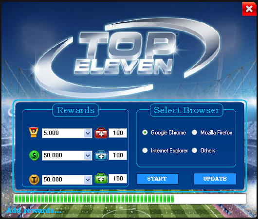 Top Eleven Latest Cheat Tool v5.0.1 For Facebook | Latest Hacking Software