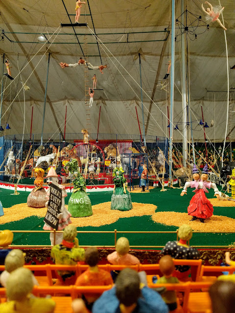 Miniature circus diorama at the Ringling Museum in Sarasota, Florida