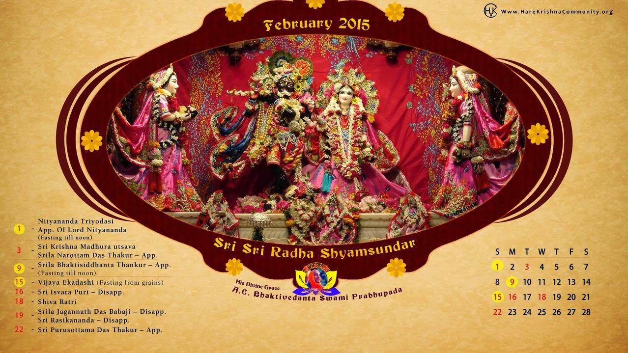 Hare Krishna Community Jaipur: Vaishnava Calendar FEBRUARY