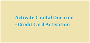 capital one activate credit card phone number