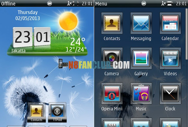 Abstract Aero HD Theme 1 0 for Nokia N8 & Belle smartphones - Signed