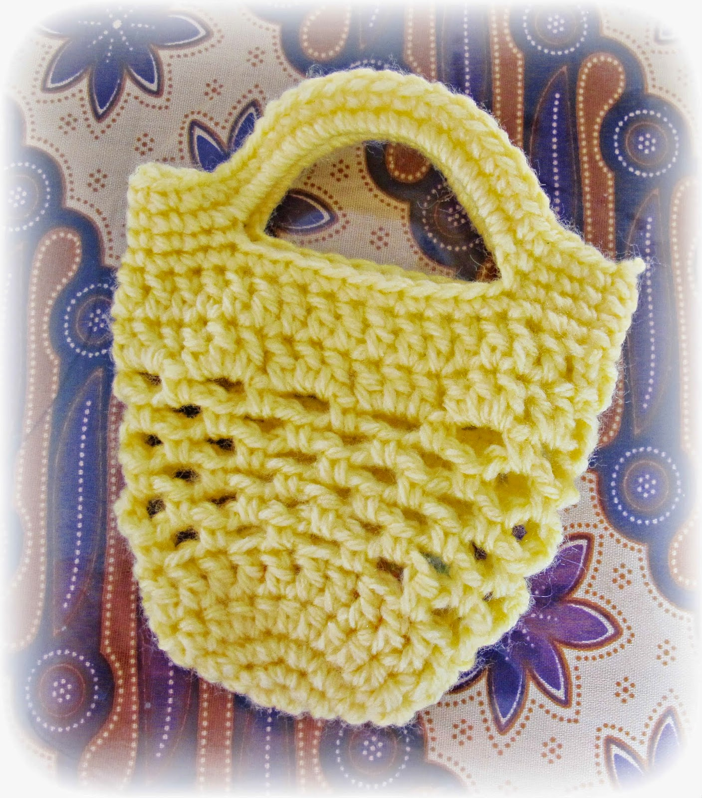 image mini crochet bag cute