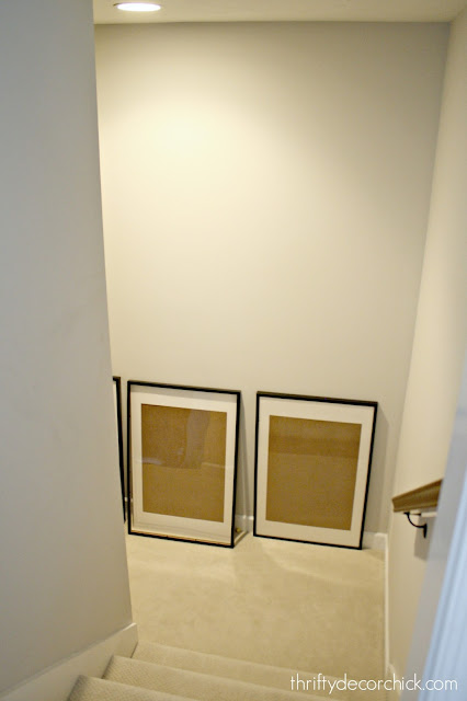 Accent wall on staircase