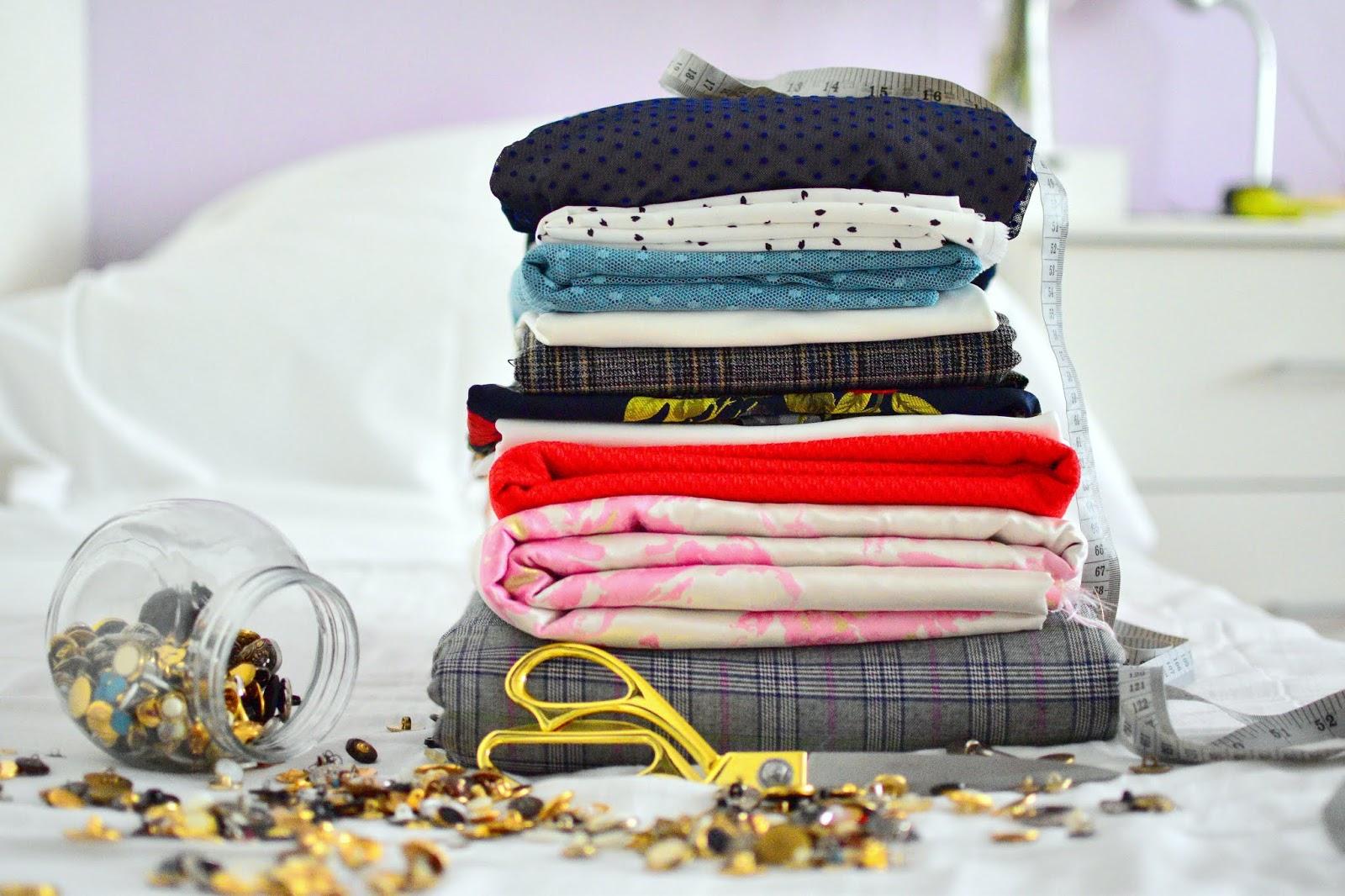tailoring: material for autumn/winter collection 2018/2019 // látky na nový zimný šatník