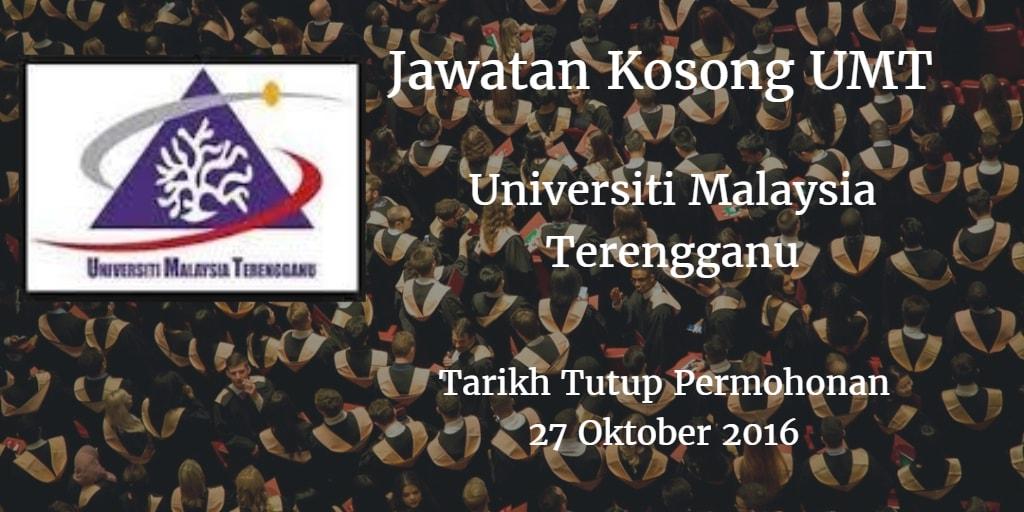 Jawatan Kosong UMT 27 Oktober 2016