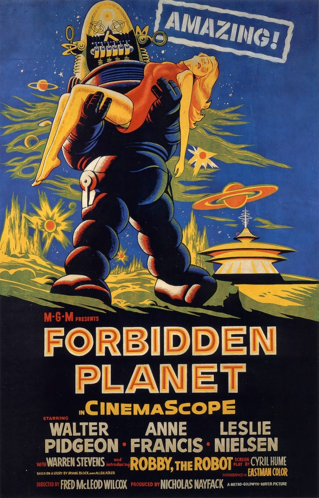 forbidden planet (1958), william malone forbidden planet robby, the robot
