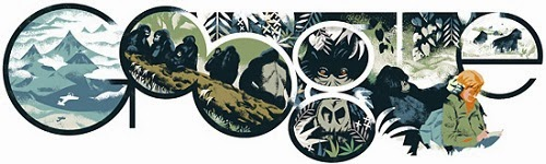 Dian Fossey's birthday celebrated with a Google doodle