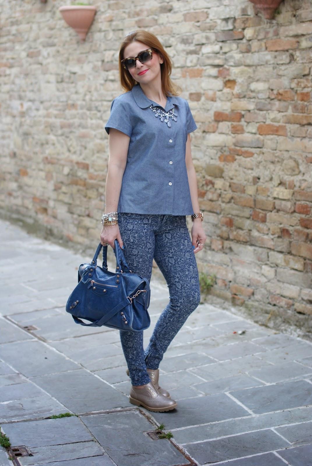 ruffles on the back of the shirt, balenciaga city, miu miu rasoir sunglasses, Fashion and Cookies, fashion blogger