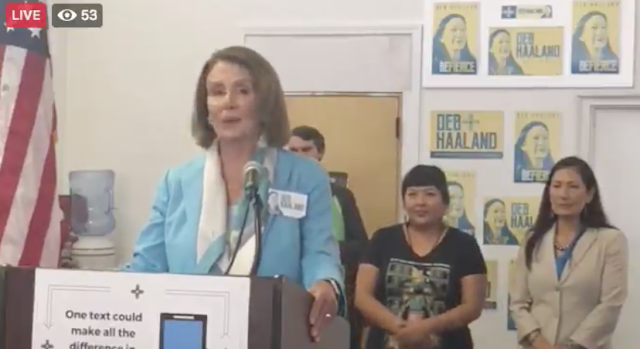 Nancy Pelosi says that Deb Haaland will be first ever Native American in Congress