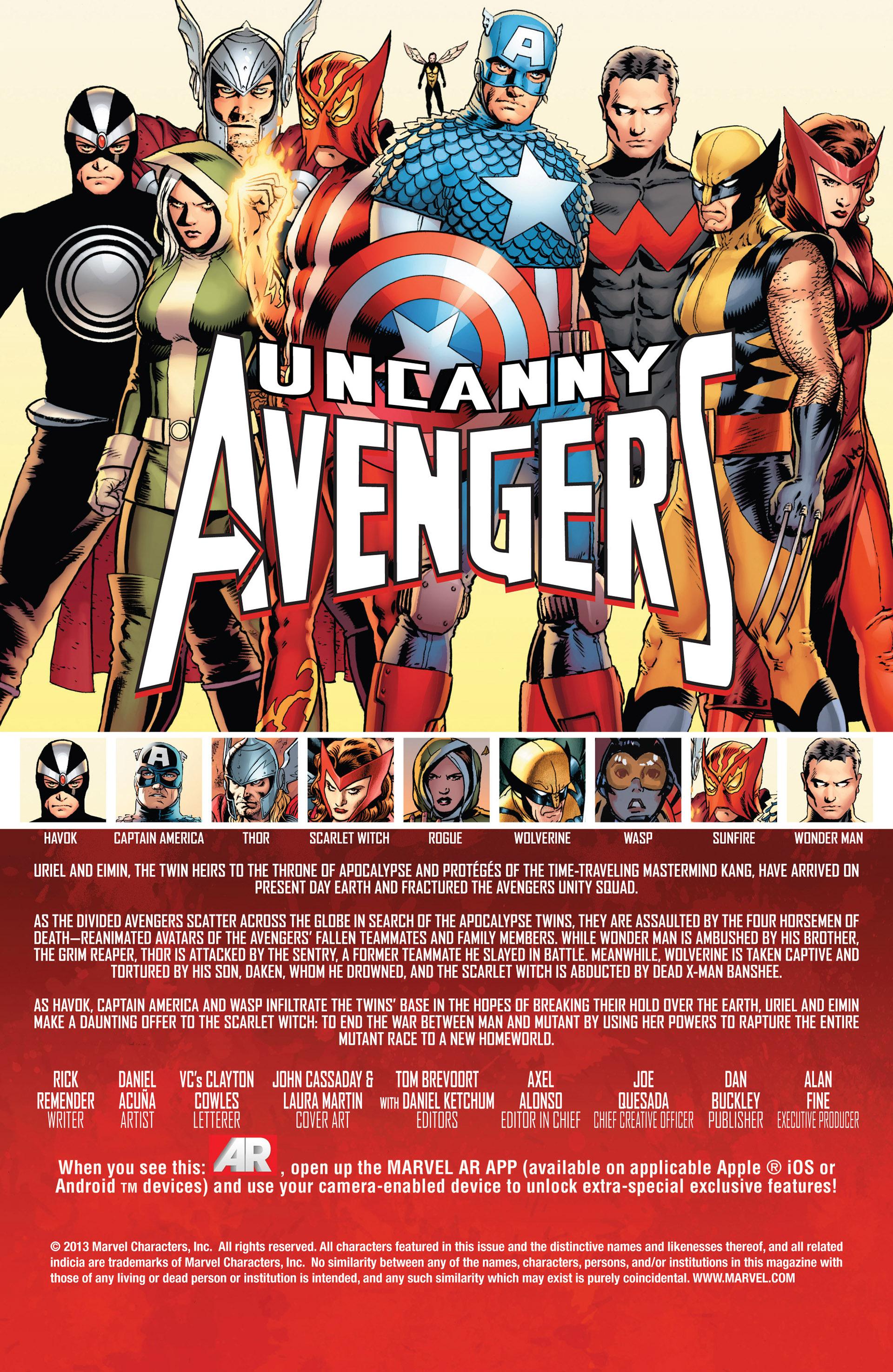 Read online Uncanny Avengers (2012) comic -  Issue #13 - 2