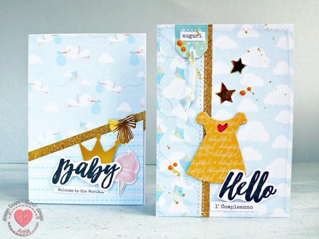 Cardmaking -  Biglietti per nascita e 1° compleanno