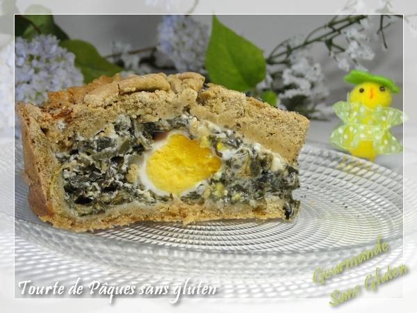 Tourte de Pâques au blettes, sans gluten