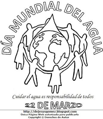 Dibujo por el Día Mundial del Agua para colorear, pintar e imprimir. Dibujo del Día Mundial del Agua de Jesus Gómez
