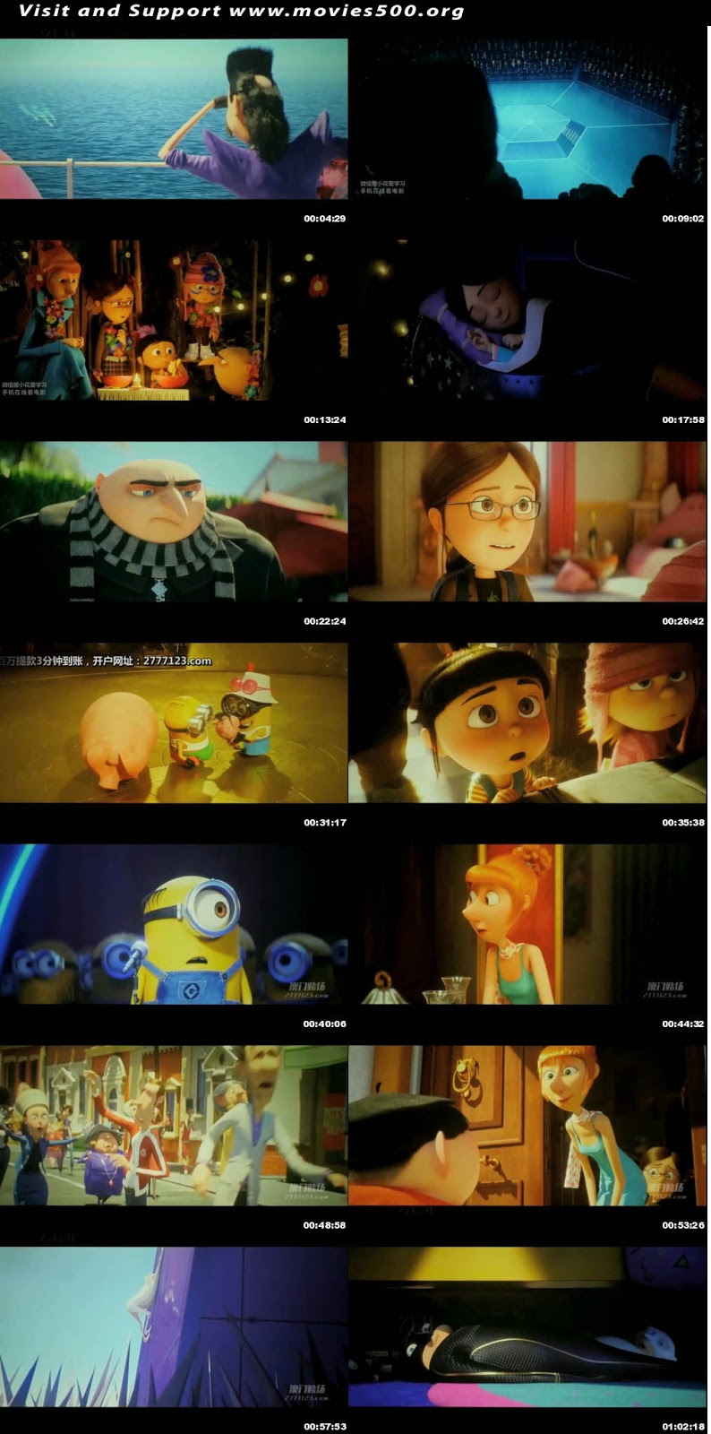 Despicable Me 3 2017 Dual Audio Hindi Movie Download at movies500.site