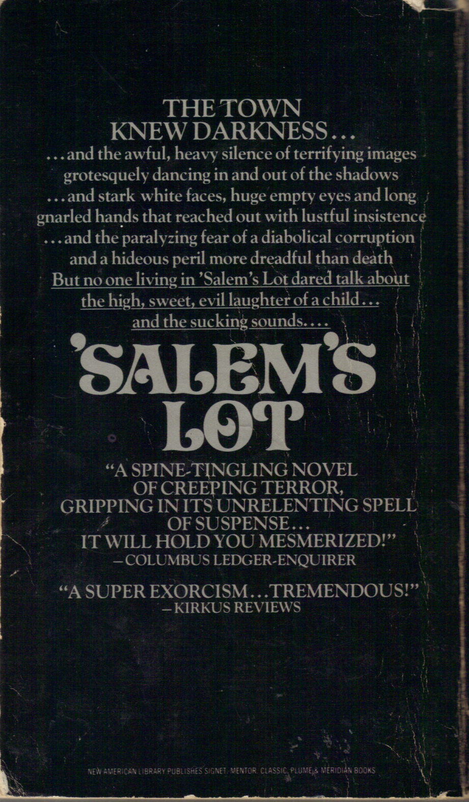 Too Much Horror Fiction: 'Salem's Lot by Stephen King ...