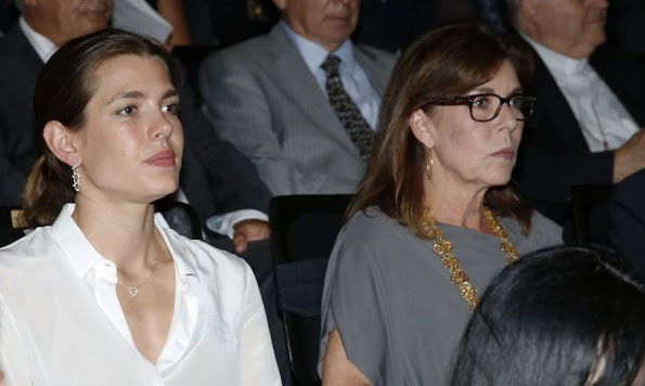 Prince Albert of Monaco and Princess Caroline of Hanover and with her daughter Charlotte Casiraghi and Princess Stephanie and with her younger daughter Camilla Gottlieb