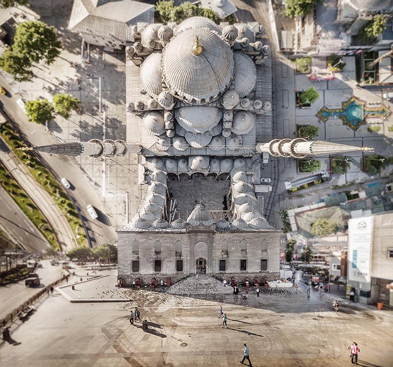 Estambul Origen: Deformado paisajes urbanos turcos por Aydin Büyüktas