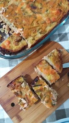 Terrine au saumon et légumes ;Terrine au saumon et légumes