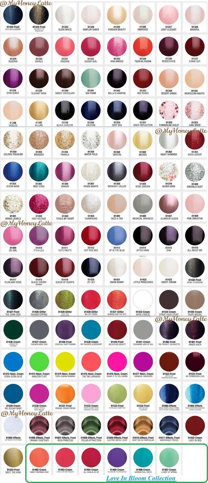 Myhoneylatte Gelish Color Swatches Gel Manicure Must
