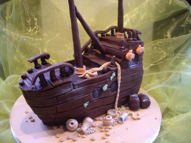 Piratenschiff Motivtorte