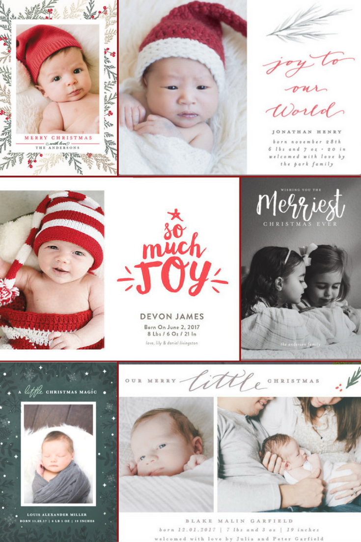 Favorite Holiday Birth Announcements with Minted - Home Sweet Ruby