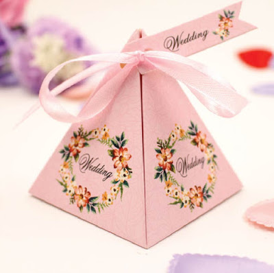 Floral Themed Wedding Chocolate Packaging