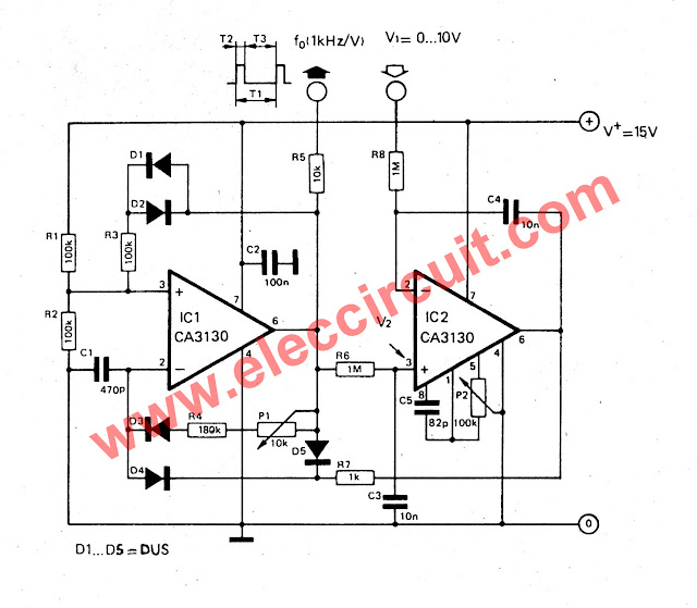 Circuit Schematic Diagram Voltage to Frequency Converter