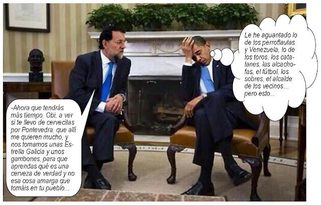 Rajoy Obama Craftbeer cerveza artesana EEUU