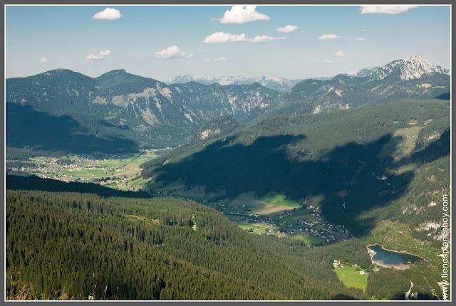 Vistas desde telecabina de Gosausee (Austria)