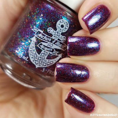 Anchor & Heart Lacquer What Is A Pirate's Favorite Letter? December 2017 Polish Pickup Swatches and Review