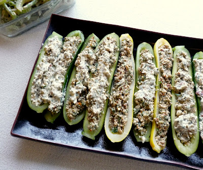 Cold Stuffed Zucchini