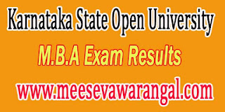 Karnataka State Open University M.B.A IInd / IVth Sem Rev Jan -2016 Exam Results