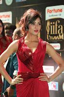 Videesha in Spicy Floor Length Red Sleeveless Gown at IIFA Utsavam Awards 2017  Day 2  Exclusive 13.JPG