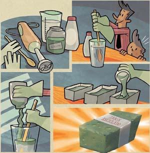 Jabón de aceite de cocina reciclado