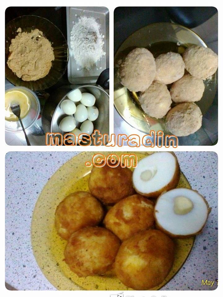cara membuat crispy golden egg, telur emas, resepi ala sushi king, menu berbuka puasa
