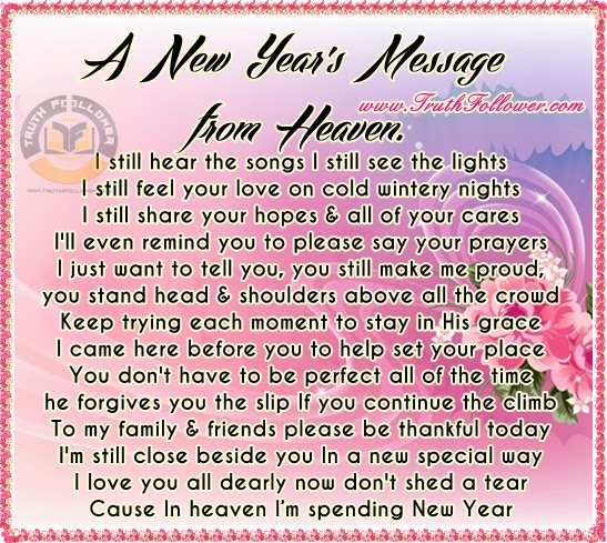 a new years message from heaven